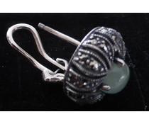 Ohrring mit Clip +Stecker Jadeit P1635