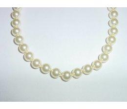 Perlenkette W6017 45 cm  große Perlen Verschluss rhodiniert