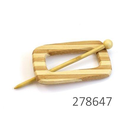 Sluiting hout rechthoek met streep