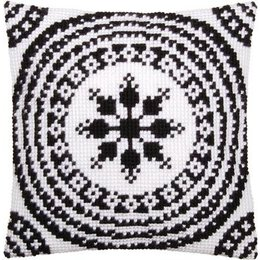 Vervaco Kussen wit/zwart