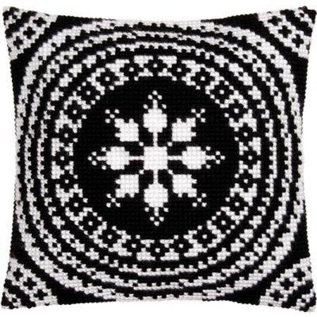 Vervaco Kussen zwart/wit