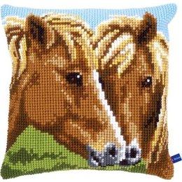 Vervaco Kussen bruine paarden