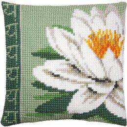 Vervaco Kussen witte lotusbloem