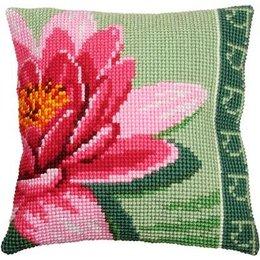 Vervaco Kussen roze lotusbloem