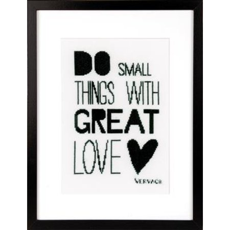 Vervaco Borduurpakket Do Small Things with Great Love