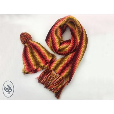 Durable Garenpakket Autumn Red shawl & muts