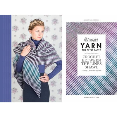 Scheepjes Yarn afterparty 18 Crochet between the lines shawl CBTL