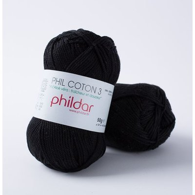 Phildar Phil Coton 3 Noir (67)