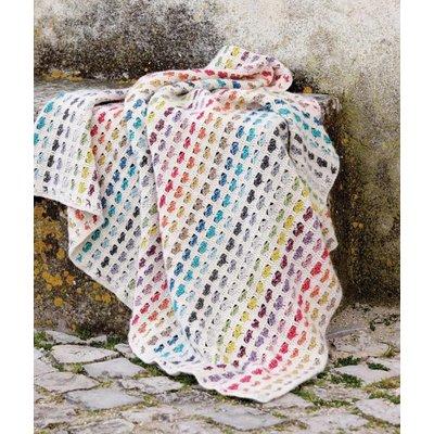 Scheepjes Gehaakte hartjesdeken van Stonewashed (S 306)