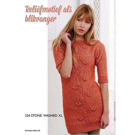 Scheepjes Breipakket: Lange trui van Stone Washed XL (S 324)