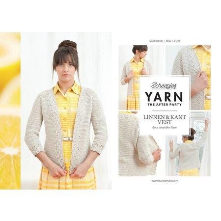 Scheepjes Yarn afterparty 01 linnen & kant vest