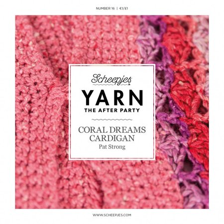 Scheepjes Yarn afterparty 16 Coral Dream Cardigan