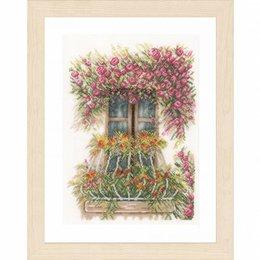 Lanarte Borduurpakket balkon met bloemen