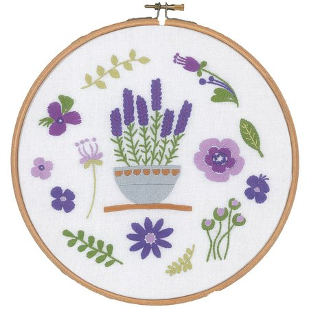 Vervaco Borduurpakket met ring Lavendel
