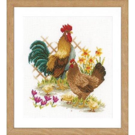 Vervaco Borduurpakket Kippenfamilie