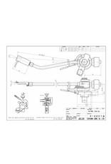 Jelco SA-750 E 10 inch Toonarm Zilver/Brons