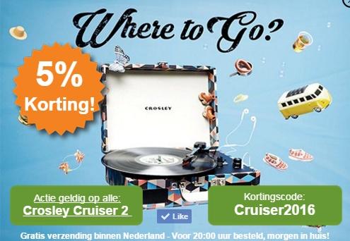 Actie van de maand: Crosley Cruiser 2 met 5% korting!