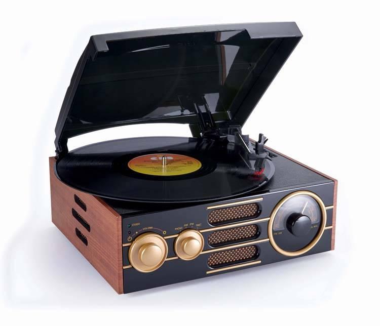 Big Ben TD101 Retro platenspeler met radio