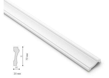 NMC Wallstyl WL6 (75 x 20 mm), lengte 2 m (NMC Deurlijst Rocco)