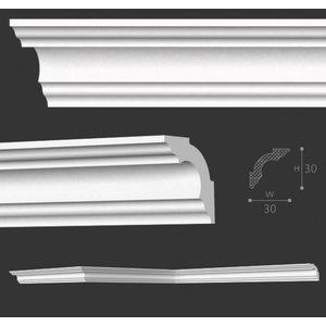 NMC Kroonlijst Nomastyl A3+ (30 x 30 mm), lengte 2 m
