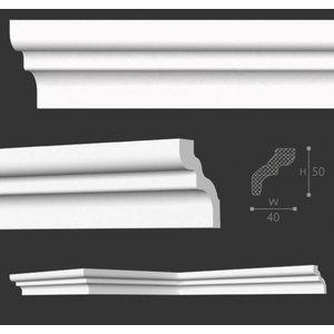NMC Kroonlijst Nomastyl D+ (50 x 40 mm), lengte 2 m