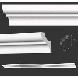 NMC Kroonlijst Nomastyl F+ (35 x 30 mm), lengte 2 m