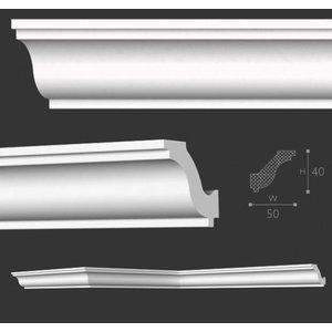 NMC Kroonlijst Nomastyl H+ (40 x 50 mm), lengte 2 m