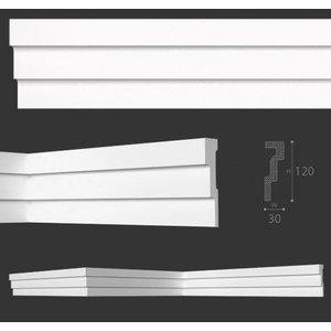 NMC Kroonlijst Nomastyl M1+ (120 x 30 mm), lengte 2 m