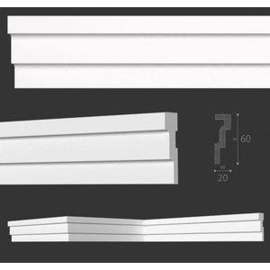 NMC Kroonlijst Nomastyl M2+ (60 x 20 mm), lengte 2 m