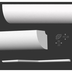 Homestar D20 (20 x 20 mm), lengte 2 m