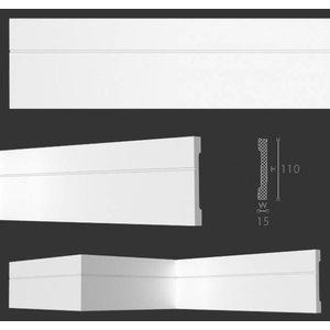 NMC Wallstyl / Floorstyl FD2 (110 x 15 mm), lengte 2 m (NMC Deurlijst Vito)
