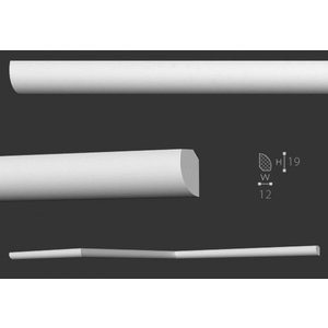NMC Wallstyl / Floorstyl FL6 (19 x 12 mm), lengte 2 m