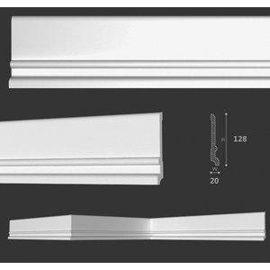 Homestar Plint CF13 (128 x 20 mm), lengte 2 m