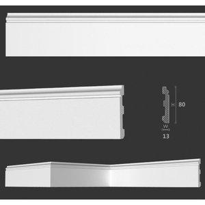 Homestar Kunststof Vloerplint CF11 (80 x 13 mm), lengte 2 m