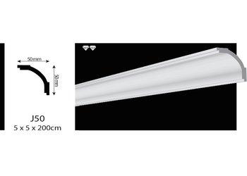 Vidella VJ50 (50 x 50 mm), plafondlijst sierlijst, lengte 2 m