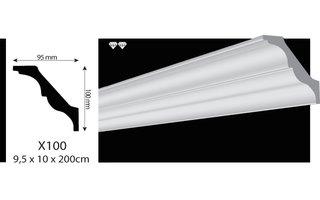 Vidella VX100 (95 x 100 mm), plafondlijst, sierlijst, lengte 2 m