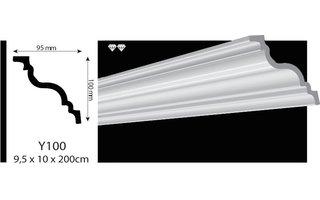 Vidella VY100 (100 x 95 mm) plafondlijst  sierlijst, lengte 2 m