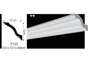 Vidella VY125 (125 x 125 mm), plafondlijst, sierlijst, lengte 2 m