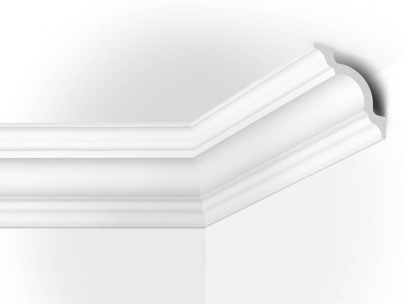 Plafondlijst vidella vs110 110 x 110 mm lengte 2 m for Plafond sierlijst
