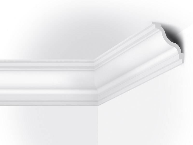 Vidella vt110 110 x 110 mm plafondlijst sierlijst for Plafond sierlijst