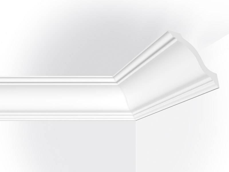Vidella vy125 125 x 125 mm plafondlijst sierlijst for Plafond sierlijst