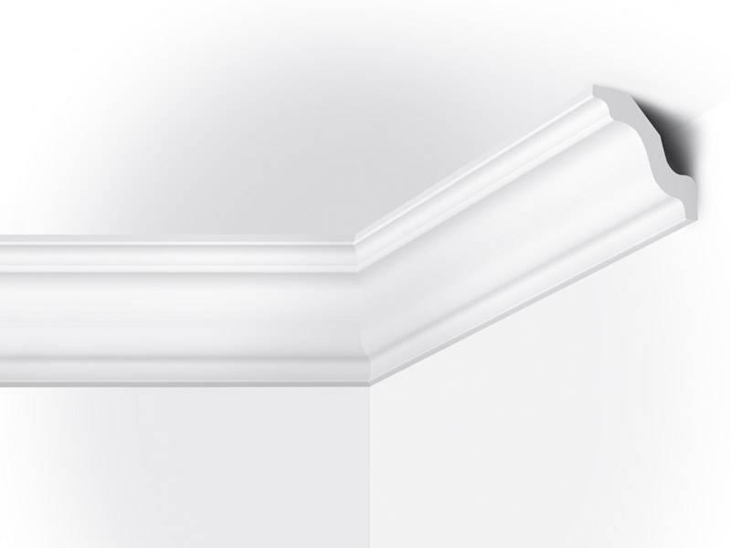 Vidella vw70 70 x 70 mm plafondlijst sierlijst lengte for Plafond sierlijst