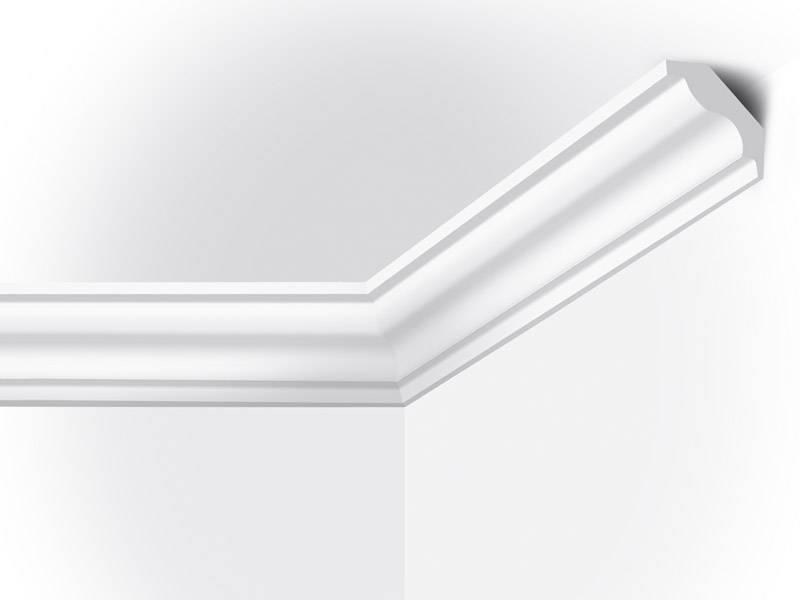 Vidella vi40 40 x 45 mm plafondlijst sierlijst lengte for Plafond sierlijst