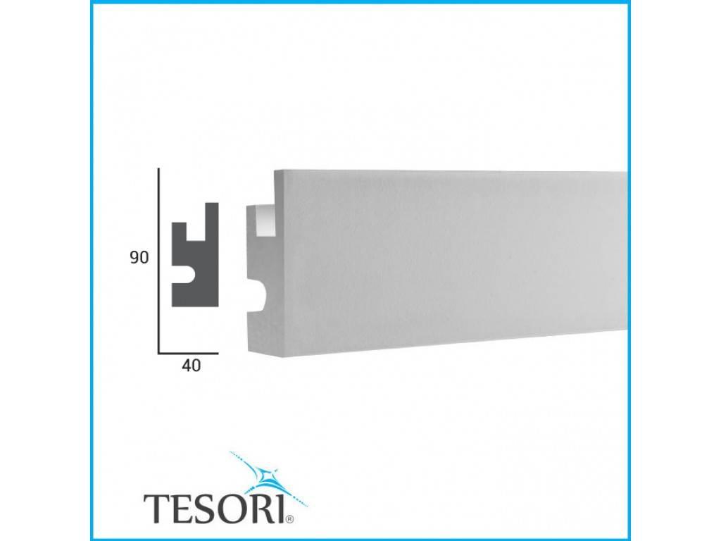 Tesori LED sierlijst voor indirecte verlichting XPS, KD301 (90x40 mm ...