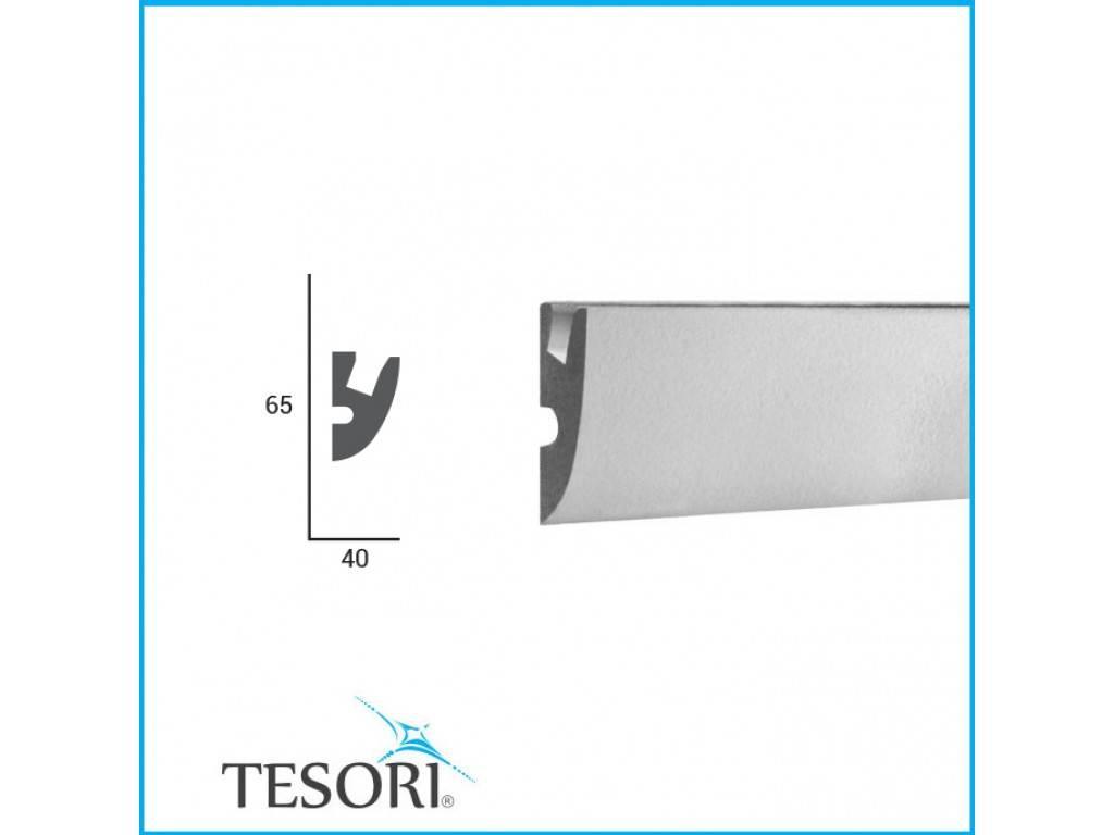 Tesori LED sierlijst voor indirecte verlichting XPS, KD303 (65x40 mm ...