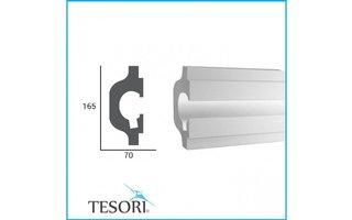 Tesori KD119 (165 x 70 mm), lengte 1,15 m, LED sierlijst voor indirecte verlichting XPS