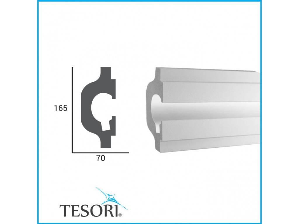 Tesori LED sierlijst voor indirecte verlichting XPS, KD119 (165 x 70 ...