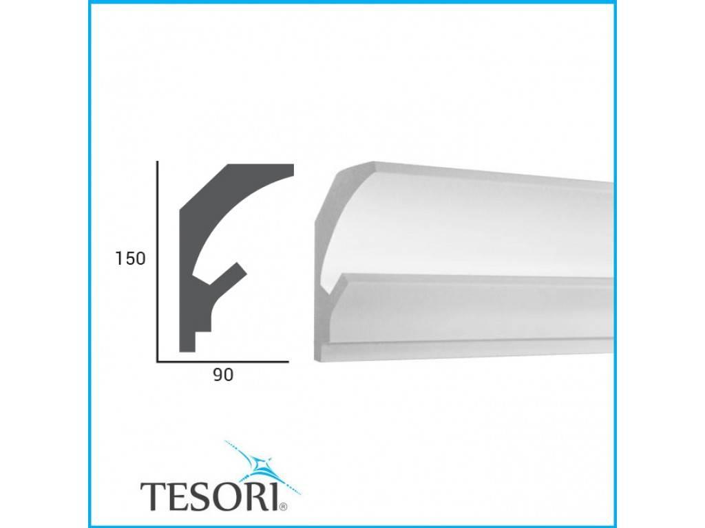 Tesori LED sierlijst voor indirecte verlichting XPS, KD202 (150 x 90 ...