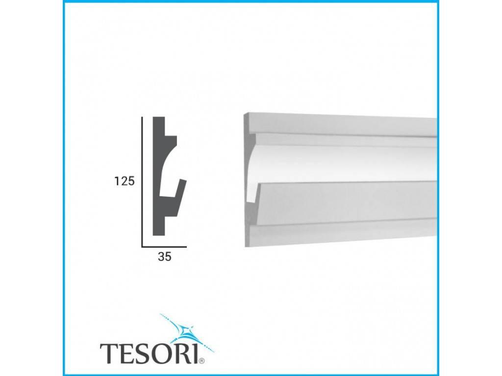 Tesori LED sierlijst voor indirecte verlichting XPS, KD401 (125 x 35 ...
