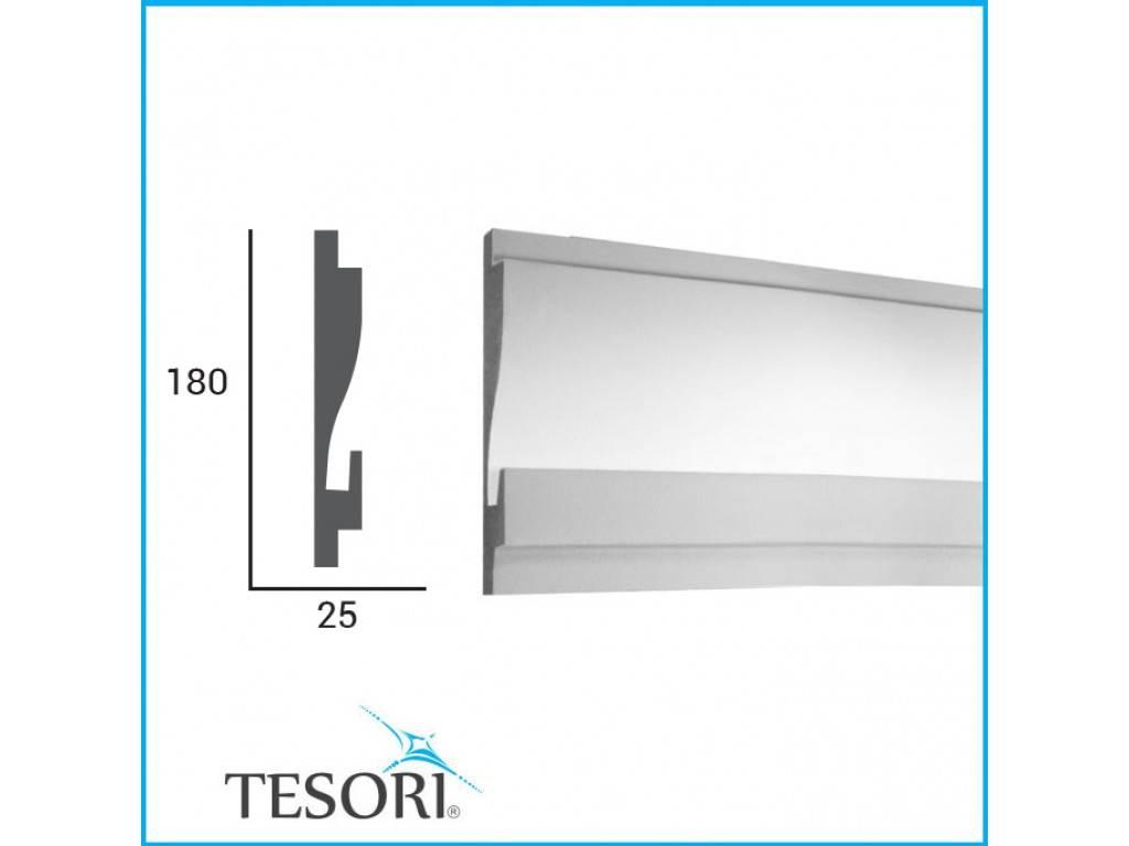 Tesori LED sierlijst voor indirecte verlichting XPS, KD404 (180 x 44 ...